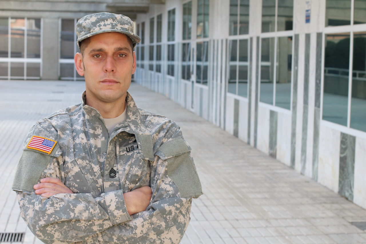 Army Soldier with Arms Crossed.