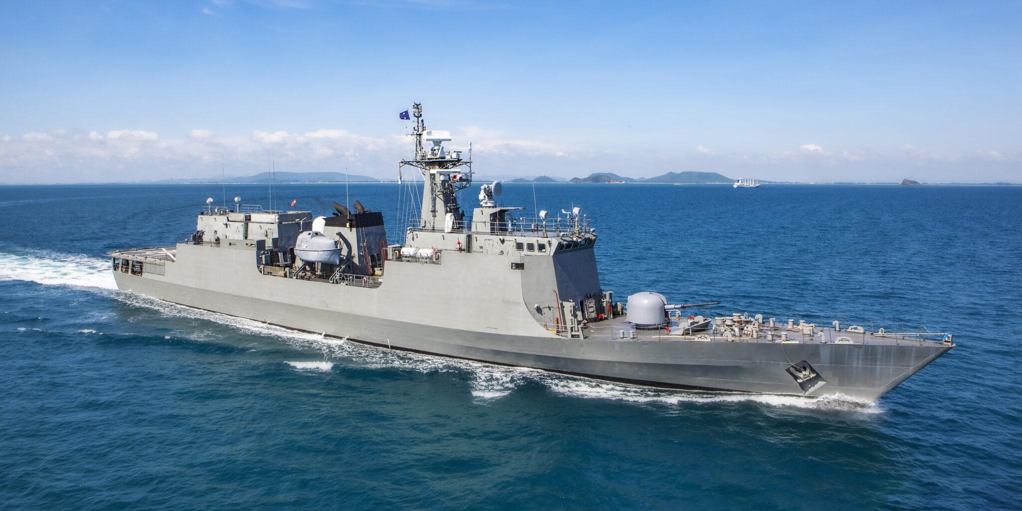 Navy Battleship at sea.